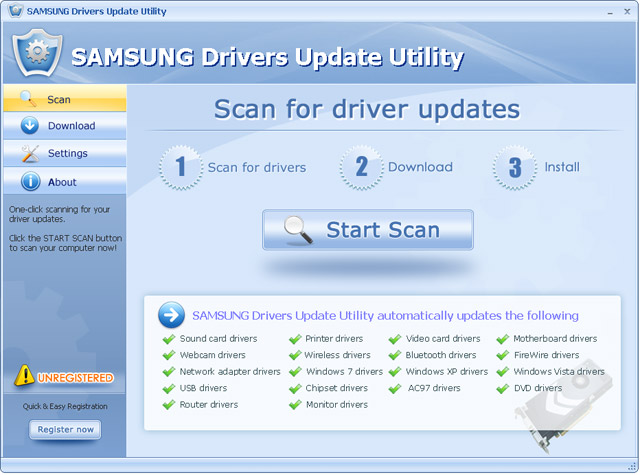 Click to view SAMSUNG Drivers Update Utility 6.5 screenshot